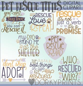 Pet Rescue Title Words Clipart