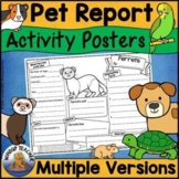 Pet Research Poster Activity Sheets - US & UK Versions