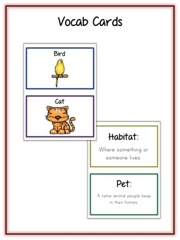 Pet Research Project - 11 Types, Vocab Cards, Packet, Book  + More!