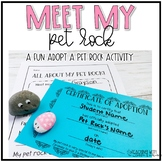 Pet Rock Birth Certificate and All About My Pet Rock Writing