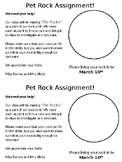 Pet Rock Parent Letter