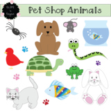 Pet Shop Animals Clip Art