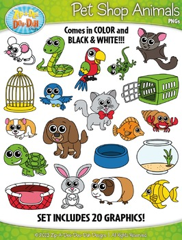 Pet Shop Animals Clipart {Zip-A-Dee-Doo-Dah Designs}