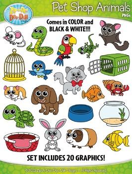Pet Shop Animals Clipart Set — Includes 40 Graphics!