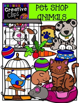 Pet Shop Animals Clipart - Pet Clipart {Creative Clips Clipart}