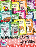 Pet Shop Animals Movement Cards for Preschool and Brain Break