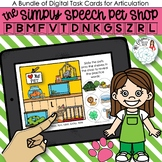 Pet Shop Articulation Boom Card Distance Learning Activity