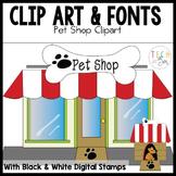Pet Shop Clip Art and Digital Stamp Graphics