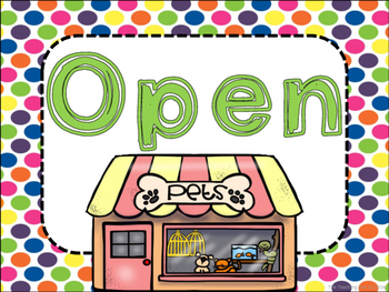 Pet Shop Dramatic Play Pack