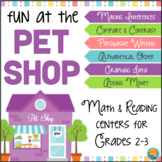 Grade 2-3 Math and Reading Centers PET SHOP Theme