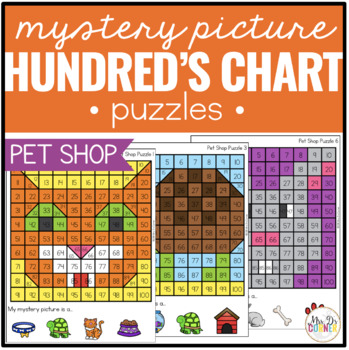 Pet Shop Mystery Picture Hundred's Chart Puzzles