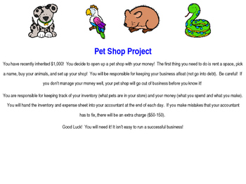 Pet Shop Project - Adding and Subtracting Money