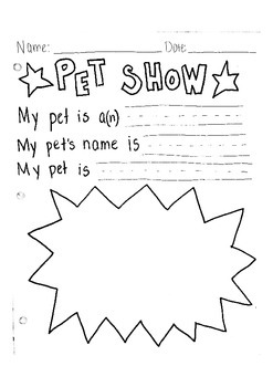 Pet Show! Writing and Illustration