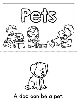 Pet Sort, Mini Book & Worksheet Set