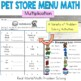 Pet Store Math Multiplication: Money: Real-World: Word Problems