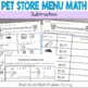 Pet Store Math Subtraction: Money: Real World Application: Word Problems
