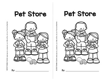 Pet Store -SIGHT WORD Emergent Reader w/ worksheets -Focus Words: you can see