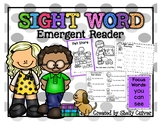 Pet Store -SIGHT WORD Emergent Reader w/ worksheets -Focus