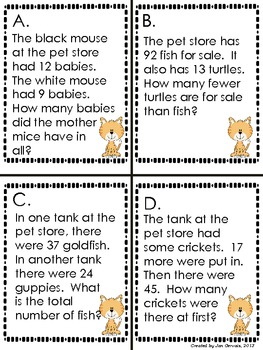 Pet Story Problems Walk Around