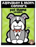 Alphabet & Math Centers - Dog Theme