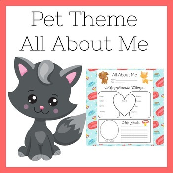 Pet Theme Classroom | All About Me Poster