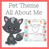 Pet Theme All About Me Worksheet