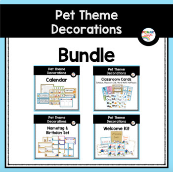 Pet-Themed Classroom Decoration Bundle