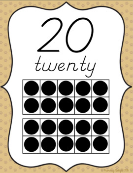 Number Posters with Ten-Frames (Pet-Themed Classroom Decor)