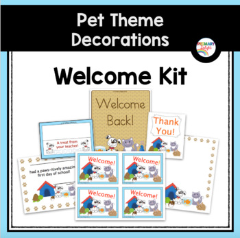 Postcards and Welcome Posters (Pet-Themed Classroom Decor)