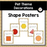 Shape Posters (Pet Theme Classroom Decor)