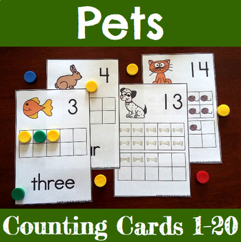 Pet Themed Counting Mats 1-20