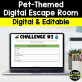Pet-Themed Digital Escape Room | Distance Learning