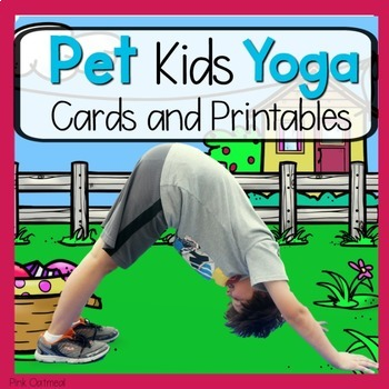 pet themed kids yogapink oatmeal movement for the