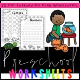 Preschool Pet Worksheets