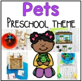 Pet Themed Math and Literacy Centers for Prechool, Prek, and Kindergarten