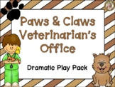 Veterinarian's Office Pet Vet Clinic Dramatic Play Kit and Learning Center Pack