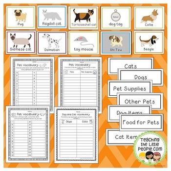 Pet Vocabulary Cards for Preschool & Kindergarten