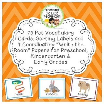 Pet Vocabulary Cards for Preschool & Kindergarten