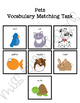 Pet Vocabulary Folder Game for Early Childhood Special Education
