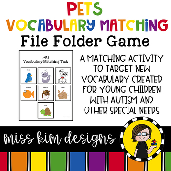 Pet Vocabulary Folder Game for Students with Autism & Special Needs