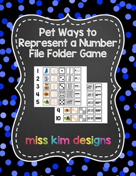 Pet Ways to Represent A Number File Folder Game for studen