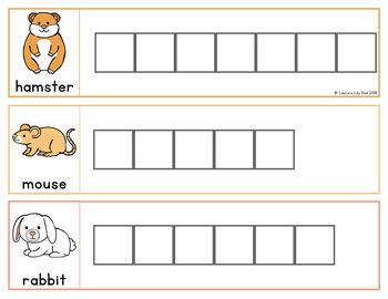 Pet Word Letter Tiles Cards