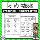 Pet Worksheets for Preschool and Kindergarten