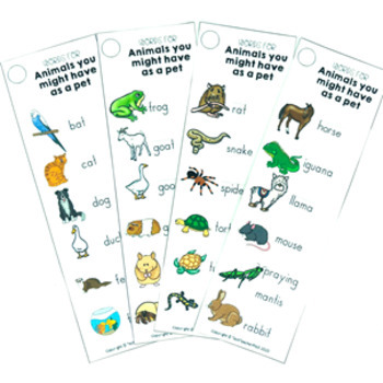 Pet Writing Activity