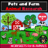 Pets and Farm Animal Research Second Grade