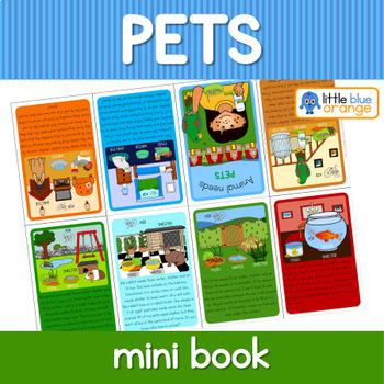 Pet  animal needs mini book