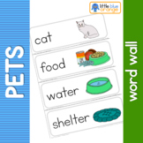 Pet animal  needs word wall