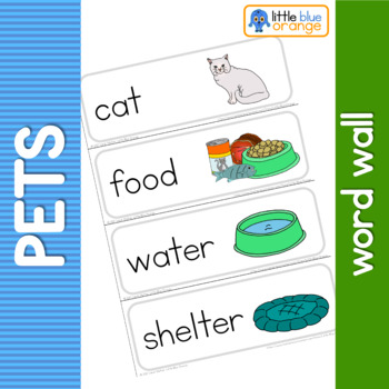 Pet animal  needs word wall