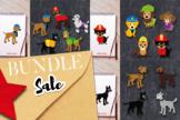 Pet dog squad clip art bundle