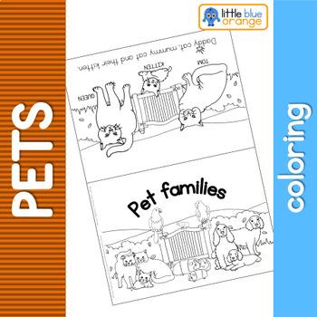 Pet families coloring booklet